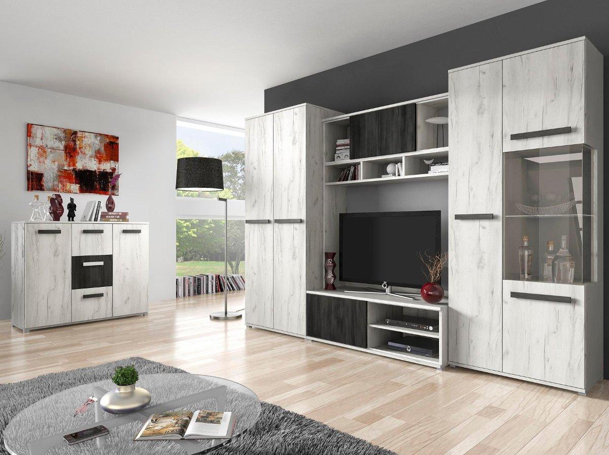 Viva - Dąb craft biały / Sosna czarna norweska