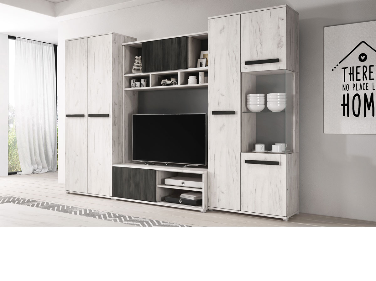 Viva - Dąb craft biały / Sosna czarna